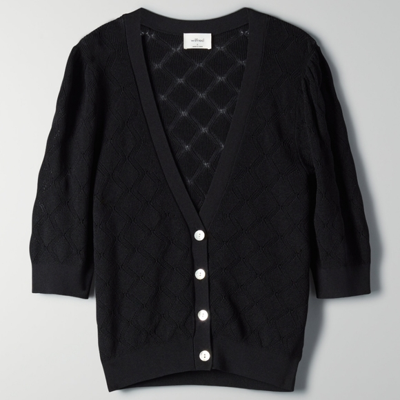 Wilfred Black Dainty V-Neck Cardigan Small